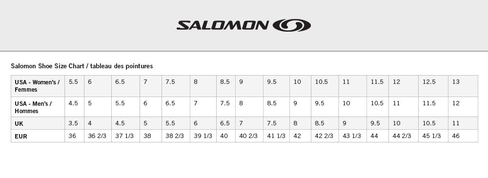 salomon speedcross 3 size chart hombre