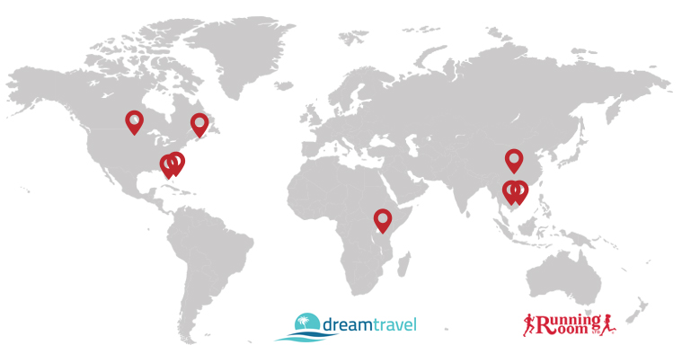 DT event Tours map
