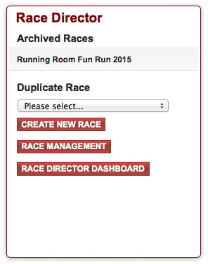 Running Room Race Director Dashboard