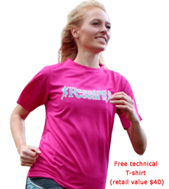 Free Running Room technical shirt T-shirt has a retail value of $40